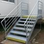 img Mairie de St Loubès Escalier de secours acier galvanisé
